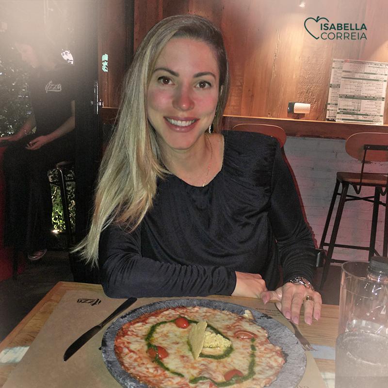 pizza low carb de couve-flor
